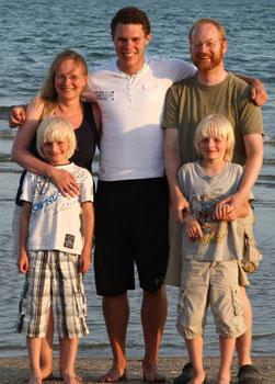 """Unsere Familie mit dem """"großen Gastsohn"""""""